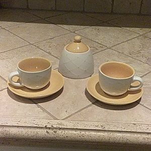 Espresso cups(set of two) with sugurbowl/top